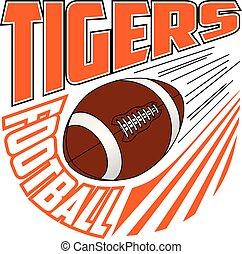 football mannschaft, tiger, design