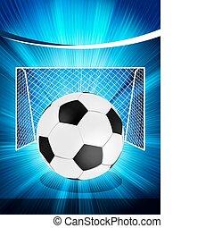 Football-Poster mit Fußball. EPS 8