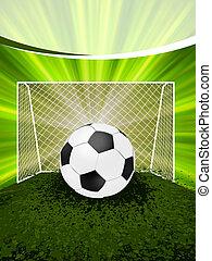 Football-Poster mit Fußball.