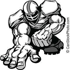 Football-Spieler-Lineman-Cartoon
