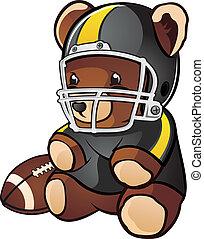 Football-Teddy-Bär-Cartoon
