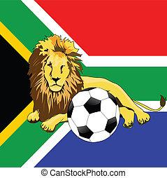 Football und Löwe