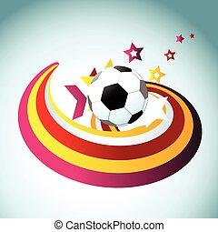 Football-Vektor-Kunstdesign.