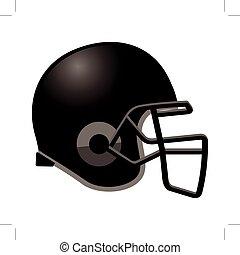 Footballhelm in schwarzer Farbe.