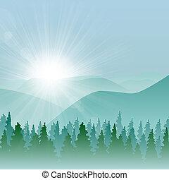 Forest Mountain Hintergrund.
