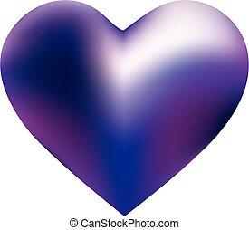 form, gefärbt, heart., hintergrund