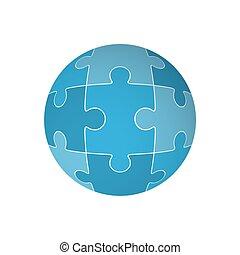 form, puzzel, sphere., stichsaege, vektor
