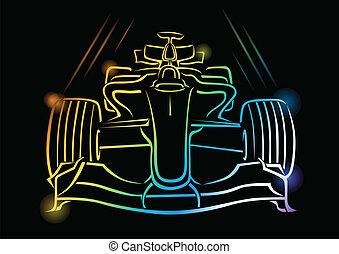 Formel-1-Autovektor Illustration