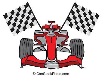 Formel 1 Rennwagenvektor