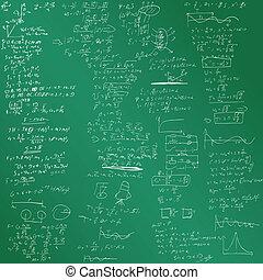formeln, vektor, hintergrund, physisch