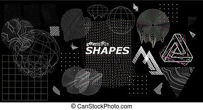 formen, glitch, poppig, universal, modern, effekte