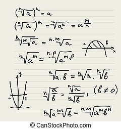 formulas., mathematisch, vektor, hintergrund