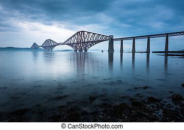 Forth Bridges in Edinburgh, Schottland.