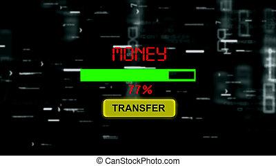 fortschritt, geld, bar, online, übertragung