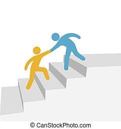 Fortschrittliche Zusammenarbeit hilft Freund