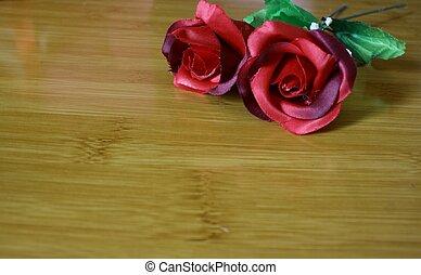 Foto von Bouquet zum Gruß am Valentinstag.