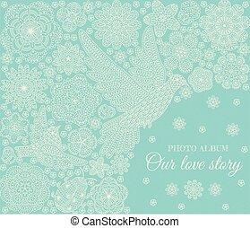 Fotoalbum Cover Design. Romantisch