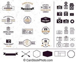 Fotograf und Fotostudio Zeichen, Element, Icon, signatute.