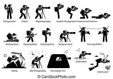 Fotografen im Freien.