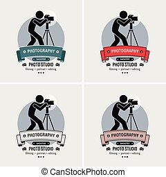 Fotografenfotografie Studio Logo Design.