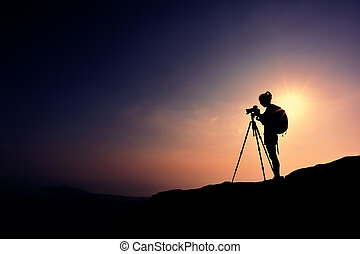 Fotografin fotografiert.