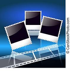 Fotorahmen und Filmstreifen