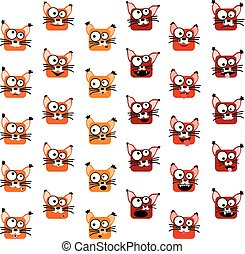 Fox-Emoticons bereit.