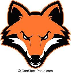 Fox-Kopf-Maskottchen.