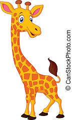 Fröhliche Giraffe.
