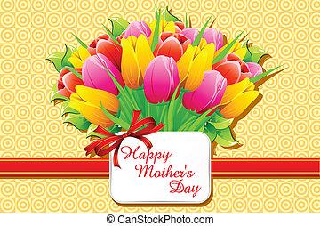 Fröhliche Muttertagskarte