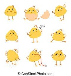 Fröhliche Oster-Tag-Hühnchen-Darstellung