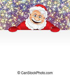 Fröhliche Santa mit Kopien