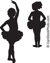 Fröhliche Silhouette-Ballerinas