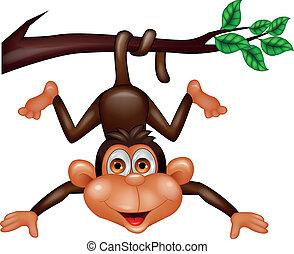 Fröhlichen Affen Cartoon