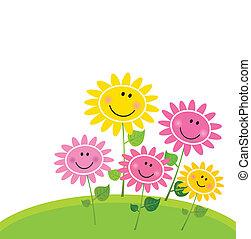 Fröhlichen Blumengarten