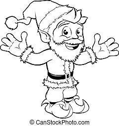 Fröhlichen Weihnachtsmann