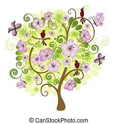 Frühjahrsdekorationsbaum