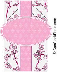 Frühlings-Blumen-Etikett