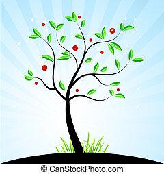 Frühlingsbaum für dein Design