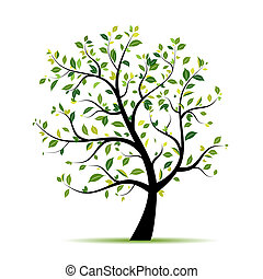 Frühlingsbaumgrün für dein Design