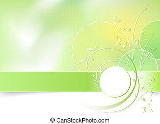 frühlingsblume, grüner hintergrund