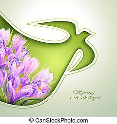 Frühlingsblumen-Einladungsvorlage.