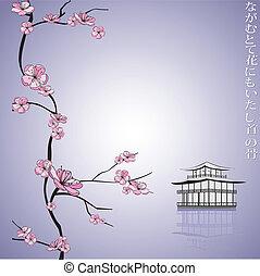 Frühlingsblumenzweig