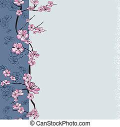 Frühlingsblumenzweige