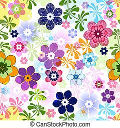 Frühlingsfarbenes, nahtloses Blumenmuster