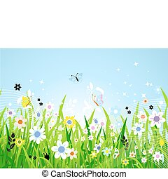 Frühlingswiese wunderschön