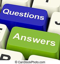 Fragen und Antworten auf Computerschlüssel, die Unterstützung und Wiki zeigen