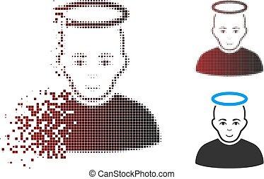 Fragmentiertes Pixel-Halbton-Symbol