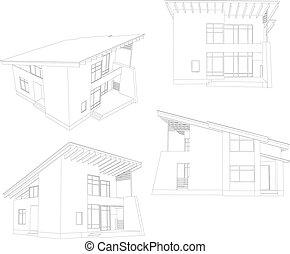 Frame House. Vier Winkel