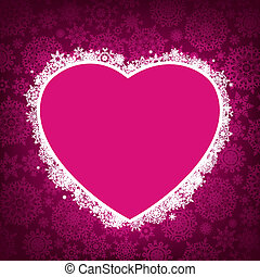 Frame in der Form des Herzens. EPS 8